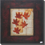 Hand Painting Maple Leaves Oil Painting for Room Decoration (LH-500944)