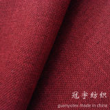Oxford Compound Linen Fabric with Knitted Backing for Home Upholstery
