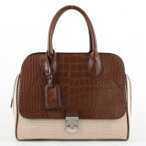 2013 PU&Fabric Fashion Crocodile Lady Handbag (L2003-1)