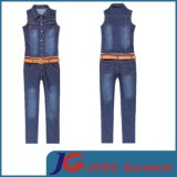 Plus Size Waisted Belt Spring Suspender Jeans (JC1164)