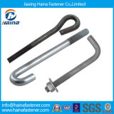 Carbon Steel 4.8grade/8.8grade Zinc Plated/ Galvanized Bend Bolt/ Foundation Bolt J Bolt L Bolt U Bolt