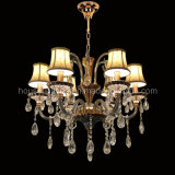 Crystal Chandelier with Fabric Shade (CH-820-2138X6)