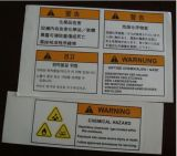 Customozed Security Chemical Hazard Warning Label