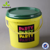 Colored 5L Plastic Bucket and Pail with Printing Service