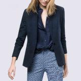 New Design Blue Colors Korean Slim Fit Casual Woman Suit