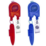 Good Quality Plastic Badge Reel with Ball Pen