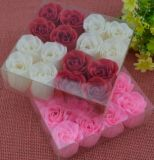 Handmade Flower Soap with Square PVC Box