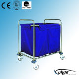Stainless Steel Laundry Hospital Trolley (Q-6)