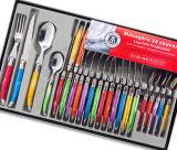 24PCS Color Plastic Handle Laguiole Tableware (SE-K326)