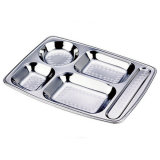 Ss18/8 Stainless Steel Lunch Tray