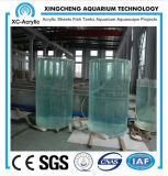 Large Transparent Cylindrical Acrylic Aquarium by Customized for Acrylic Aquarium Project