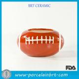 Cute Football Ceramic Vase with Fish Handcraft
