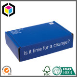 Navy Blue Color Print Corrugated Cardboard Mailing Box with Logo
