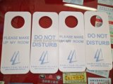 Hotel Resorts Personalized Logo Debossed PVC Door Hanger