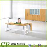 Metal Frame L-Shaped Computer Desk with 3-Drawer Pedestal