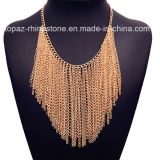 Accessories Wholesale Metal Chain Tassel Necklace Woven Necklace