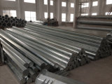 Polygonal Galvanized and Powder Coated Steel Pole