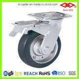 150mm Black Rubber Swivel Locking Caster Wheel (P701-11F150X45S)