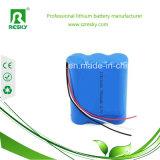 11.1V 18650 Li-ion Battery Pack for Bicycle Light/Head Light/Flash Light