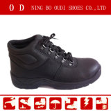 Hot Popular Black Leather Safety Shoes (ABP5-8023)