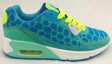 Flyknit/PU Running Sport Shoe for Lady