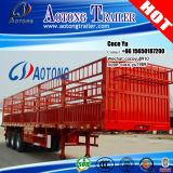 Tri Axles Side Panel of Livestock / Stake Semi Truck Trailer