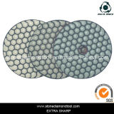 80mm Resin Dry 3-Step Polishing Pads Abrasive Tools for Granite