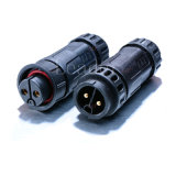 2 Pole Assembly IP68 Waterproof Male Female Connector