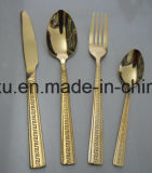 Chinese Design Stainless Steel Rose Gold Dinnerware Cutlery Set Sx-Rg005