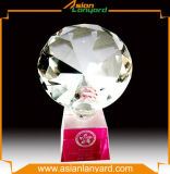 Custom Fashion Crystal Jade Glass Trophy