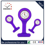 Silicone Plastic Rubber Metal Nurse Watch (DC-1147)