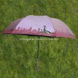 Peach Luxury Sun and Rain Straight Umbrella (YSS0074-2-1)