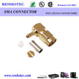 Right Angle Male Solderless SMA Connector Crimp Cable Rg174