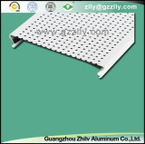 Fireproof C-Shaped Suspended Strip Ceiling Design, Closed Linear Ceiling