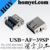 Heavy PCB USB a Type Connector for Electrionic Equipment (USB-AF-39SP)