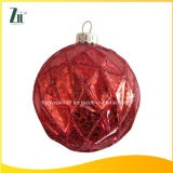 2016 Hand Painted Glass Christmas Ball with Shiny