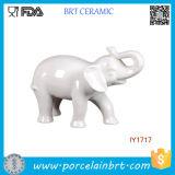 High White Ceramic Elephant Figurine Ceramic Home Decor