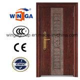 Customized Color of Sunproof-Waterproof Entrance Security Steel Door (W-S-21)