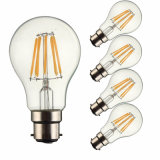 COB LED Light Vintage Edison Bulb B22 A60 Filament Lamp
