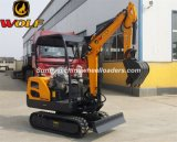 Wolf Hot Sale 1.8t Digger with 0.1m3 Bucket Capacity