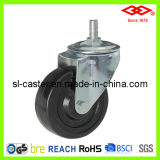"4"" Swivel Screw Hard Rubber Castor (L102-53B100X32)"