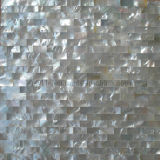 China Natural Color Mother of Pearl Mosaic Tile Seamless on Mesh