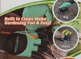 Hot Sale Handed Garden Genie Gloves with Plastic Fingertips