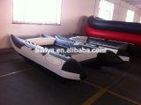 Liya 3.35m 4.3m Inflatable High Speed Boat Catamaran Fishing Boat