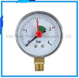 60mm Brass Bottom Connect and Black Iron Housing Pressure Meter