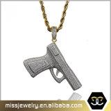 Hip Hop Men Gold Gun Pendant