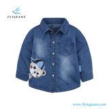 Fashion Simple Soft Boys′ Long Sleeve Denim Shirt by Fly Jeans