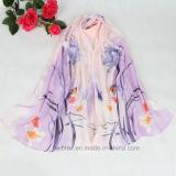 Wholesale Flourish Printed Chiffon Lady Scarf in 100% Polyester (HD01)