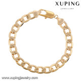 74739 Xuping China Jewelry Wholesale Simple Silk Thread Gold Chains Bracelet for Women and Men