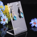 Clear Black Acrylic Jewelry Display Case Stand for Earring Display